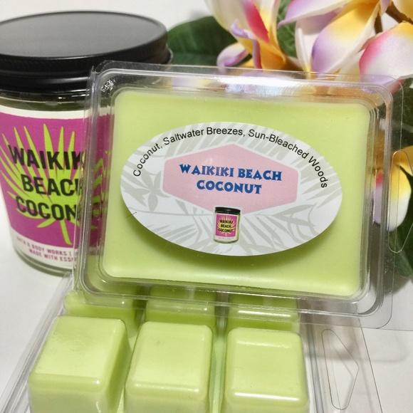 3/$18  WAIKIKI BEACH COCONUT Wax Melts